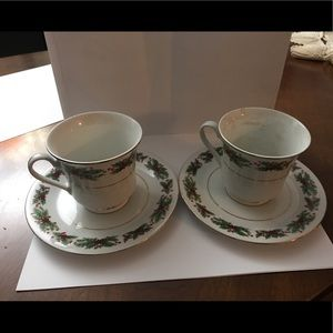 Lynns Fine China Teacup and Saucer Set Of 2